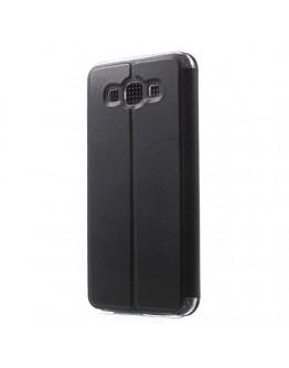 Husa protectie Dot View pentru Samsung Galaxy A8 SM-A800F, neagra
