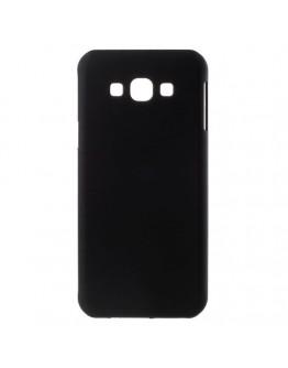 Carcasa protectie spate din plastic cauciucat pentru Samsung Galaxy A8 SM-A800F, neagra