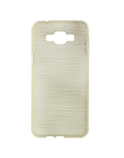 Carcasa protectie spate din gel TPU pentru Samsung Galaxy A8 SM-A800F, gold