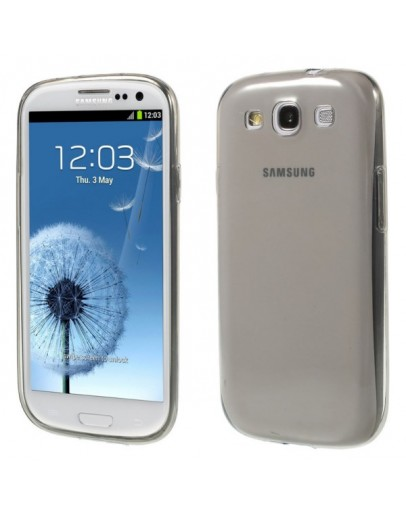 Carcasa protectie spate 0.6mm pentru Samsung Galaxy S3 / S3 NEO - gri
