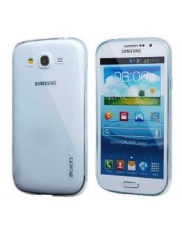 Carcasa protectie spate 0.5mm pentru Samsung Galaxy Grand Neo I9060 I9062 I9082 - albastru transparent