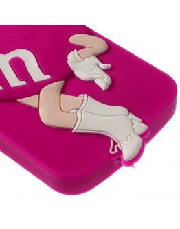 Carcasa protectie spate Beauty M&M pentru Samsung Galaxy Grand 2 Duos G7102 - roz inchis