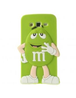 Carcasa protectie spate Happy M&M pentru Samsung Galaxy Grand 2 Duos G7102 - verde