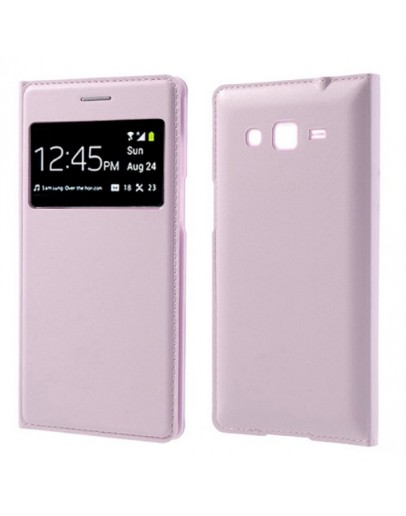 Husa protectie Smart View pentru Samsung Galaxy Grand 2 G7102/7105 - roz