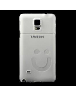 "Carcasa protectie din plastic ""smile"" pentru Samsung Galaxy Note 4 N910 - alba"