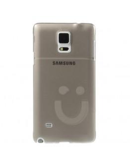 "Carcasa protectie din plastic ""smile"" pentru Samsung Galaxy Note 4 N910 - gri"