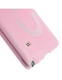 "Carcasa protectie din plastic ""smile"" pentru Samsung Galaxy Note 4 N910 - roz"