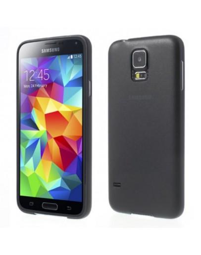 Carcasa protectie spate 0.3 mm pentru Samsung Galaxy S5 G900 - neagra