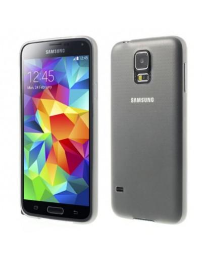 Carcasa protectie spate 0.3 mm pentru Samsung Galaxy S5 G900 - gri