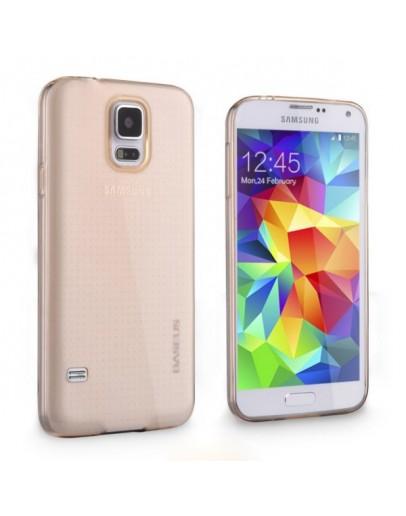 Carcasa protectie spate 0.6 mm pentru Samsung Galaxy S5 G900 - gold
