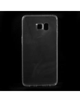 Carcasa protectie spate din gel TPU pentru Samsung Galaxy S6 Edge Plus - transparenta