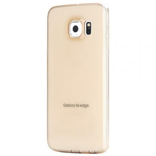 Carcasa protectie spate 0.7mm pentru Samsung Galaxy S6 Edge, gold