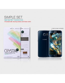 Folie protectie clara anti-amprente pentru Samsung Galaxy S6