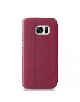 Husa protectie cu fereastra Baseus pentru Samsung S7 Edge G935, rosie