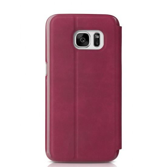 Husa de protectie Baseus cu fereastra pentru Samsung Galaxy S7 G930, rosie