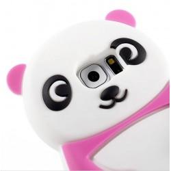 "Carcasa protectie spate din silicon ""panda"" pentru Samsung Galaxy S7 G930 - roz inchis"