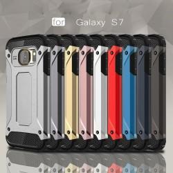 Carcasa protectie spate din gel TPU si plastic pentru Samsung S7 G930, alba