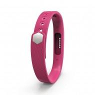 Bratara de rezerva din silicon pentru Fitbit Flex 2, roz inchis
