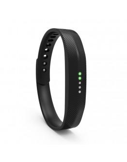 Bratara de rezerva din silicon pentru Fitbit Flex 2, neagra