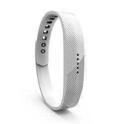 Bratara de rezerva din silicon pentru Fitbit Flex 2, alba