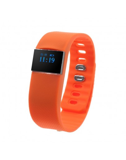 Bratara fitness Smart M05 cu bluetooth, portocalie