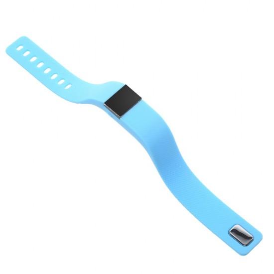 Bratara fitness Smart M05 cu bluetooth, albastra