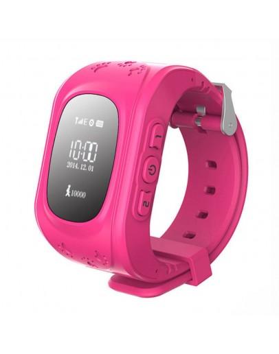 Bratara cu monitorizare GPS pentru copii, roz
