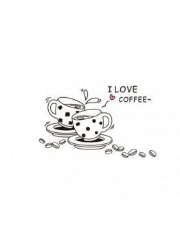 """Sticker perete """"I Love Coffe"""""""