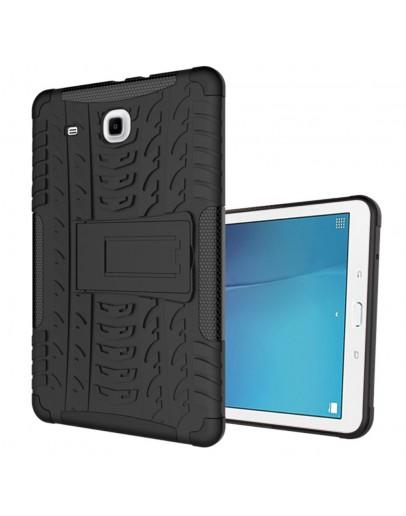 """Carcasa protectie spate CS cu suport pentru Samsung Galaxy Tab E 9.6"""" T560/T561, neagra"""