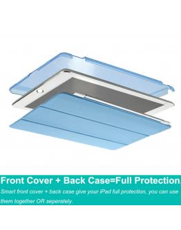 Pachet Smart Cover magnetic + Carcasa protectie spate pentru IPAD 2/3/4  - albastru