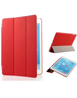 Pachet Smart Cover magnetic + Carcasa protectie spate pentru IPAD 2/3/4  - rosu