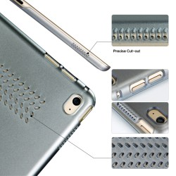 """Husa protectie slim """"Smart Cover"""" BGR cu spate transparent pentru iPad Pro 12.9 (2015), maro"""