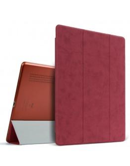 "Husa protectie slim ""Smart Cover"" BGR cu spate transparent pentru iPad Pro 12.9 (2015), rosie"