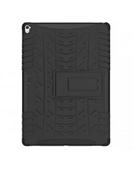 Carcasa protectie spate cu suport din plastic si gel TPU pentru iPad Pro 9.7 inch, neagra