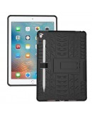 Carcasa protectie spate cu suport din plastic si gel TPU pentru iPad Pro 9.7 inch (2016), neagra