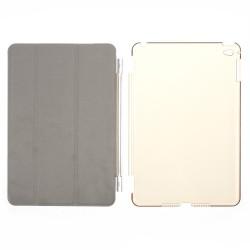 Pachet format Smart Cover magnetic si Carcasa protectie spate pentru iPad Mini 4 - alb