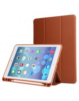 Husa protectie din piele ecologica si gel TPU pentru iPad Pro 10.5 (2017), maro
